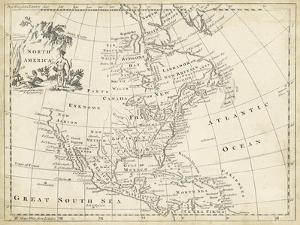 Map of North America by T. Jeffreys