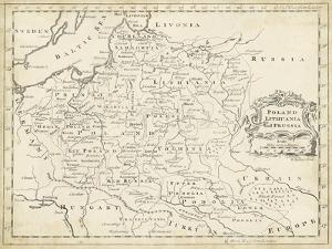 Map of Poland by T. Jeffreys