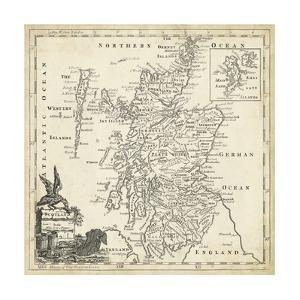 Map of Scotland by T. Jeffreys