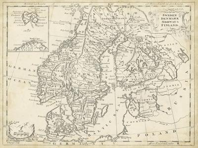 Map of Sweden and Denmark by T. Jeffreys