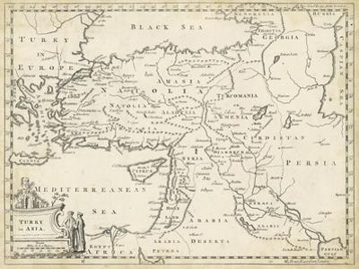 Map of Turkey in Asia by T. Jeffreys