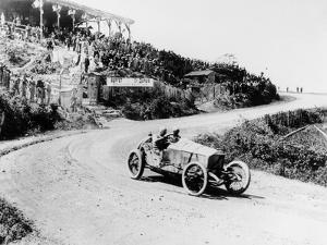 T Pilette in a Mercedes 4.5 Litre at the French Grand Prix, Lyons, 1914