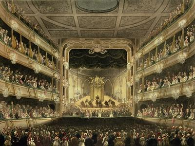 Covent Garden Theatre, 1808, from 'Ackermann's Microcosm of London' Engraved by J. Bluck…