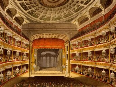 New Covent Garden Theatre, from Microcosm of London, 1810 by R Ackermann