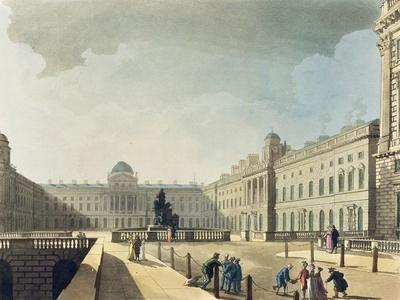 Somerset House, Strand, from 'Ackermann's Microcosm of London', Engraved by John Bluck…