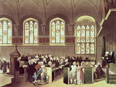 The Court of Chancery, Lincoln's Inn Fields, 1808 from Ackermann's 'Microcosm of London'