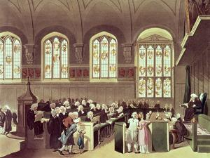 The Court of Chancery, Lincoln's Inn Fields, 1808 from Ackermann's 'Microcosm of London' by T. & Pugin Rowlandson