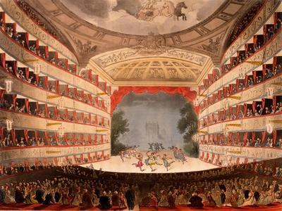 The Opera House, London, from Ackermann's 'Repository of Arts', 1809