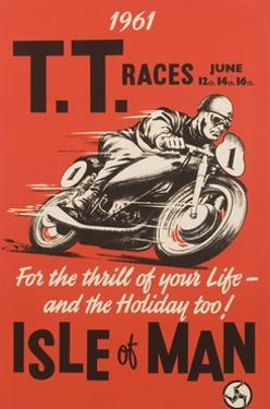 T.T. Races Isle of Man Poster