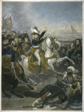 Napoleon I Napoleon at the Battle of the Pyramids by T.w. Huffan