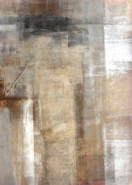Brown and Grey Abstract Art Painting by T30Gallery