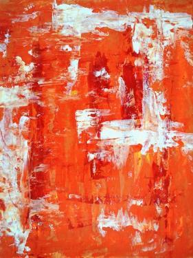Red and Orange Abstract Art Painting by T30Gallery