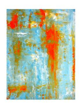 Teal and Orange Abstract Art Painting by T30Gallery