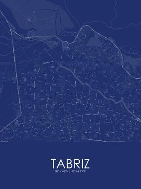 Tabriz, Iran, Islamic Republic of Blue Map