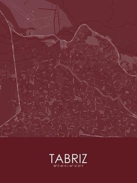 Tabriz, Iran, Islamic Republic of Red Map