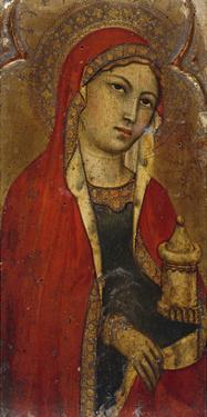 St Mary Magdalene - a Fragment from an Altarpiece by Taddeo di Bartolo