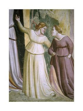 Figures of Ladies, Detail from Stories of Virgin: Marriage of Virgin by Taddeo Gaddi