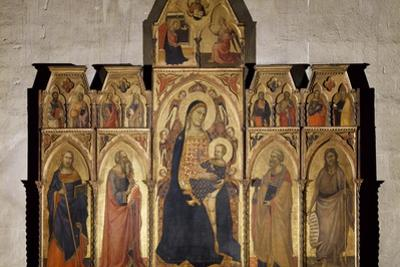 Madonna and Child Enthroned with St James, St Luke the Evangelist, St Peter and John Baptist, 1350