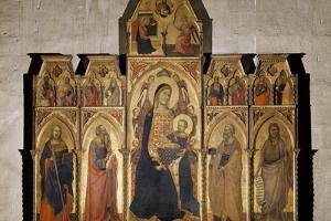 Madonna and Child Enthroned with St James, St Luke the Evangelist, St Peter and John Baptist, 1350 by Taddeo Gaddi