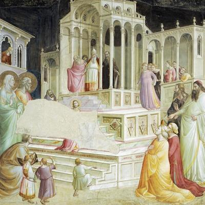 Presentation of Mary in Temple, Detail from Stories of Virgin