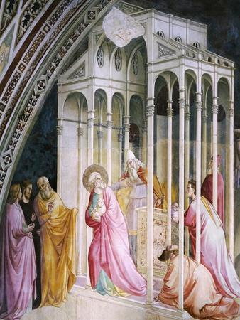 St Joachim Being Expelled from Temple, Detail from Stories of Virgin