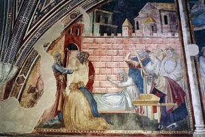 St. John Evangelist Resuscitating Drusiana by Taddeo Gaddi