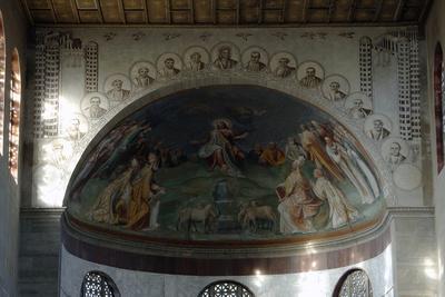 Rome. Fresco by Taddeo Zuccari (1529-1566), 1559. Basilica of Saint Sabina