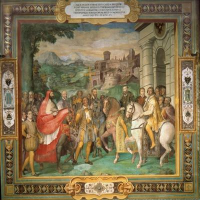 The Meeting of Holy Roman Emperor Charles V and Alessandro Farnese in 1544