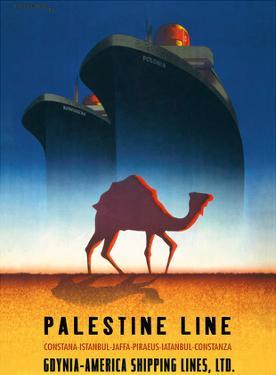 Palestine Line - Gdynia-America Shipping Lines - Polish Ocean Liners SS Kosciuszko and SS Polonia by Tadeusz Trepkowski