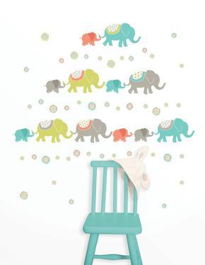 Tag Along Elephants Decal Kit