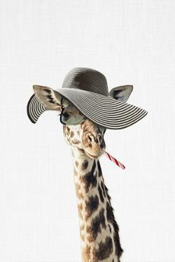 Giraffe Dressed in a Hat by Tai Prints
