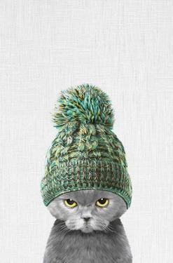 Kitten Wearing a Hat by Tai Prints
