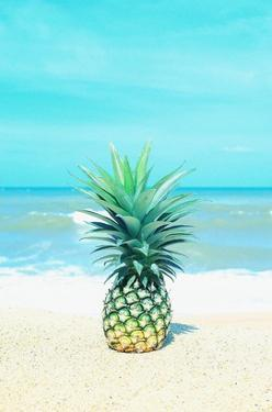 Pineapple on the Sand by Tai Prints