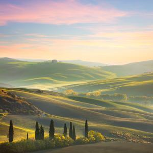 Unique Sundown Tuscany Landscape in Spring Time by Taiga