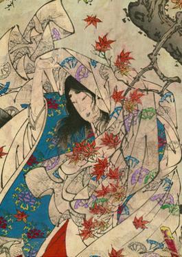 Maple Leaf Gathering by Taiso Yoshitoshi