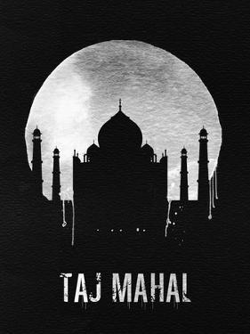 Taj Mahal Landmark Black