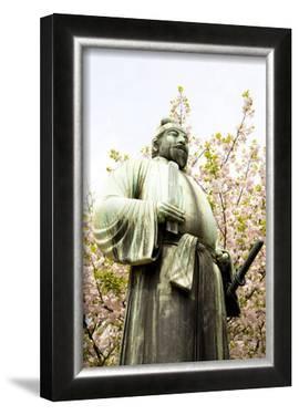 Bronze Statue, Cherry Blossoms of Spring by Takashi Kirita