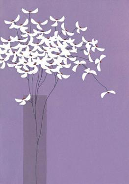 Flowers in Lilac Vase by Takashi Sakai