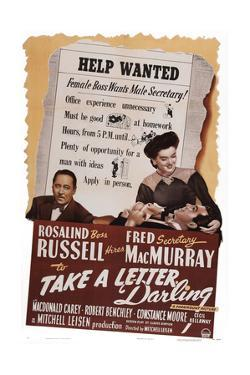 Take a Letter, Darling, from Left: Robert Benchley, Fred Macmurray, Rosalind Russell, 1942