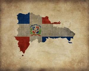 Map with Flag Overlay Dominican Republic by Take Me Away