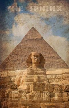 Vintage Great Sphinx of Giza, Pyramids, Egypt, Africa by Take Me Away