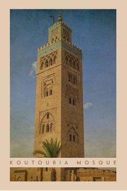 Vintage Koutoubia Mosque, Marrakesh, Morocco, Africa by Take Me Away