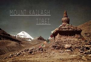 Vintage Mount Kailash, Tibet, Asia by Take Me Away