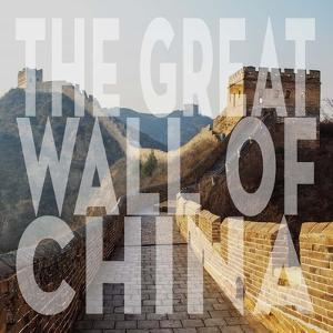 Vintage The Great Wall of China, Asia, Large Center Text by Take Me Away