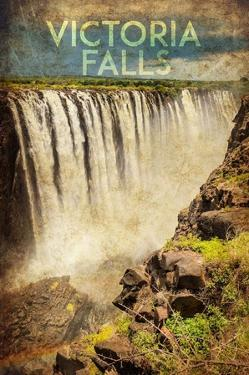 Vintage Victoria Falls, Livingstone, Africa by Take Me Away