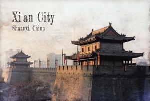 Vintage Xi'an City, China, Asia by Take Me Away