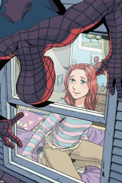 Spider-Man Loves Mary Jane No.4 Cover: Spider-Man, and Mary Jane Watson by Takeshi Miyazawa