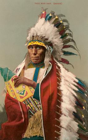 Tall Man Dan, Sioux Indian