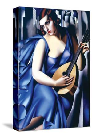 Femme en Bleu Avec Guitare by Tamara de Lempicka