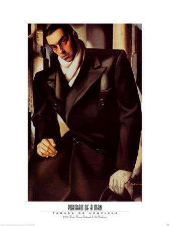 Portrait Of A Man by Tamara de Lempicka